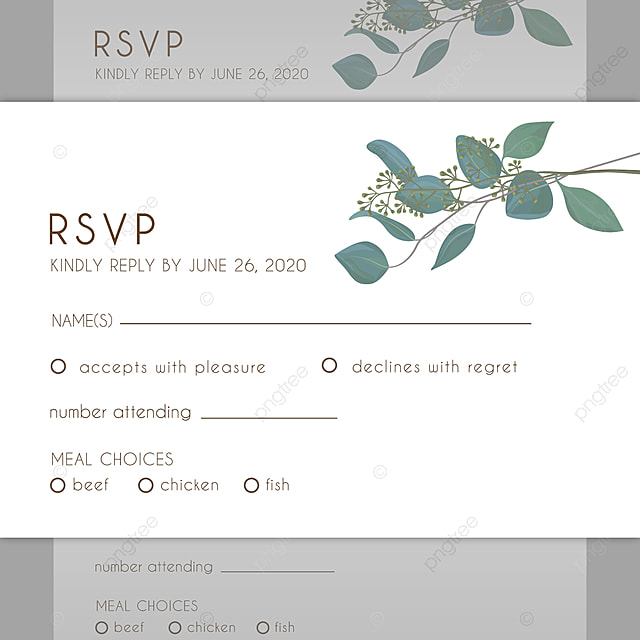 Wedding Rsvp Card Template For Free Download On Pngtree