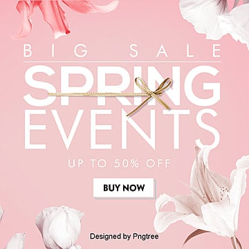 Fashionable, Simple and Favorable Flower Spring Promotion Sns Flag Advertisement, Sns, Promotion, Cartoon PNG and PSD
