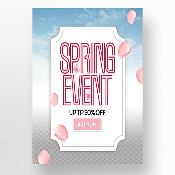 personality fashion spring promotion website sns publicity poster Template