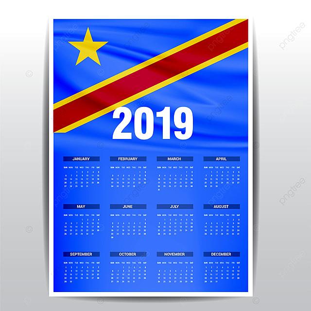 Calendario Repubblica.Calendario Repubblica Democratica Del Congo Bandiera Sfondo