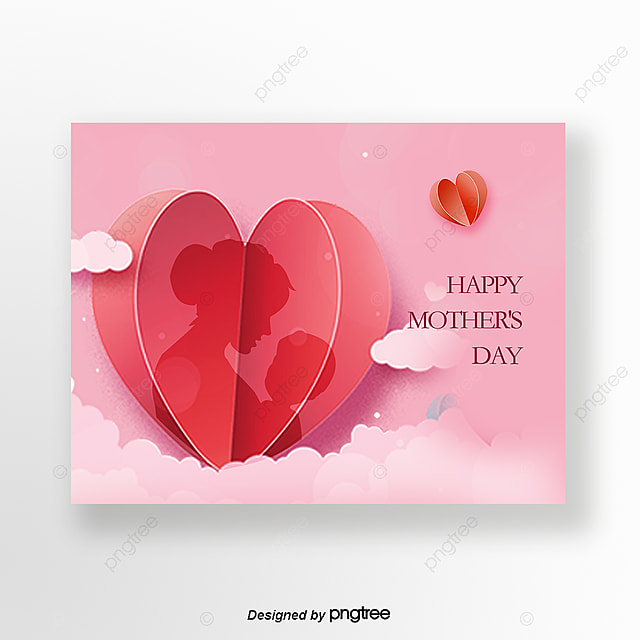Pink Mothers Day Flyer Template For Free Download On Pngtree: Pink Mothers Day Card Template For Free Download On Pngtree