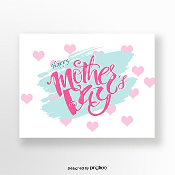 mint green fresh mothers day card Template
