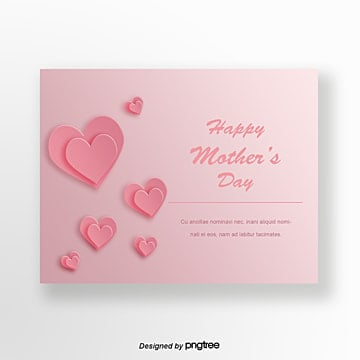Pink origami cards for Mothers Day, Multi-storey, Magnificent, Fashion PNG and PSD