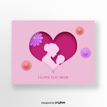 purple fresh mothers day greeting card Template