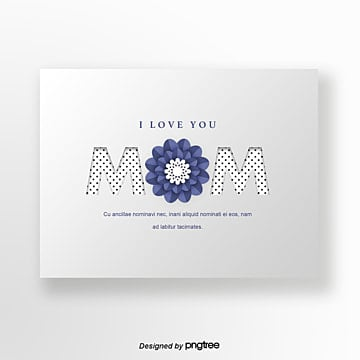 Silver texture exquisite flowers Mothers Day greeting card, Mothers Day, Wave Point, Romantic PNG and PSD