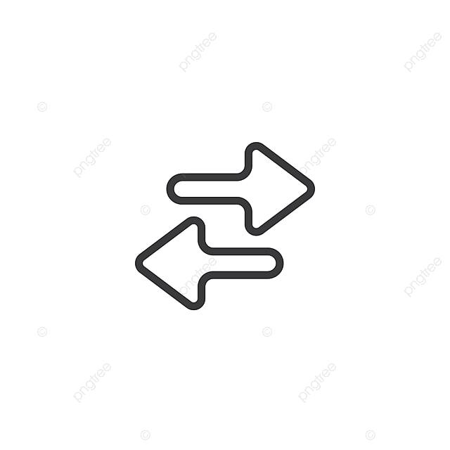 App Scambio Freccia Icona Isolato Perfetto Pixel Con Stile Piatto In