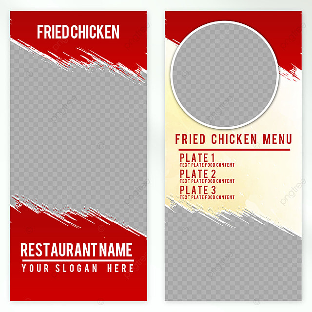 fried chicken elegant design menu template for free