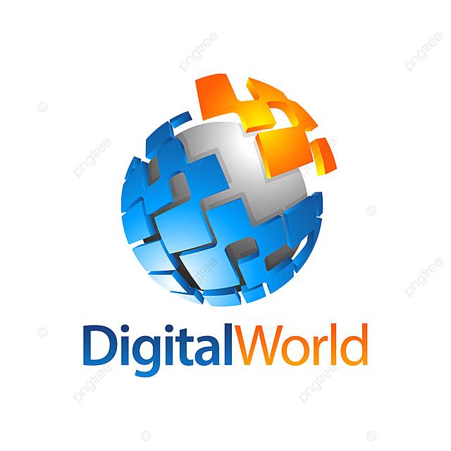 Sphere Digital World Globe Logo Concept Design Template