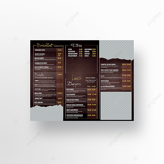 trifold menu template template for free download on pngtree
