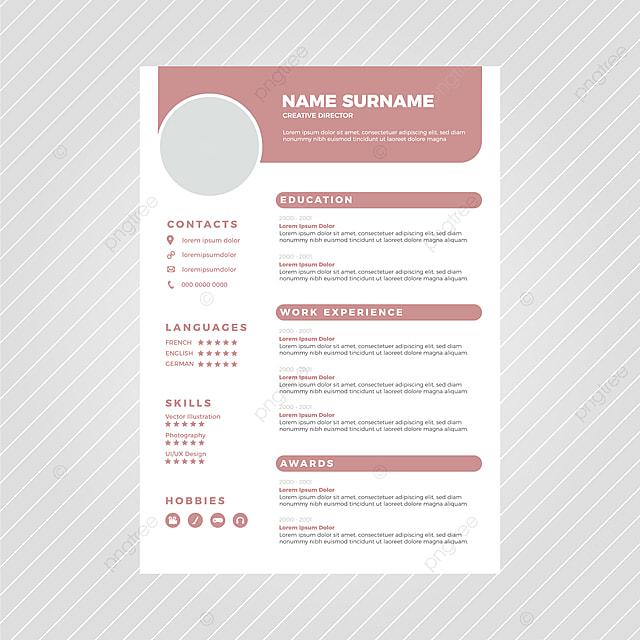 Moderno Diseño Plantilla Curriculum Vitae Descarga
