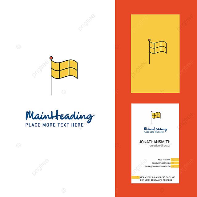 Sport Flagge Kreative Logo Und Visitenkarte Vertikale