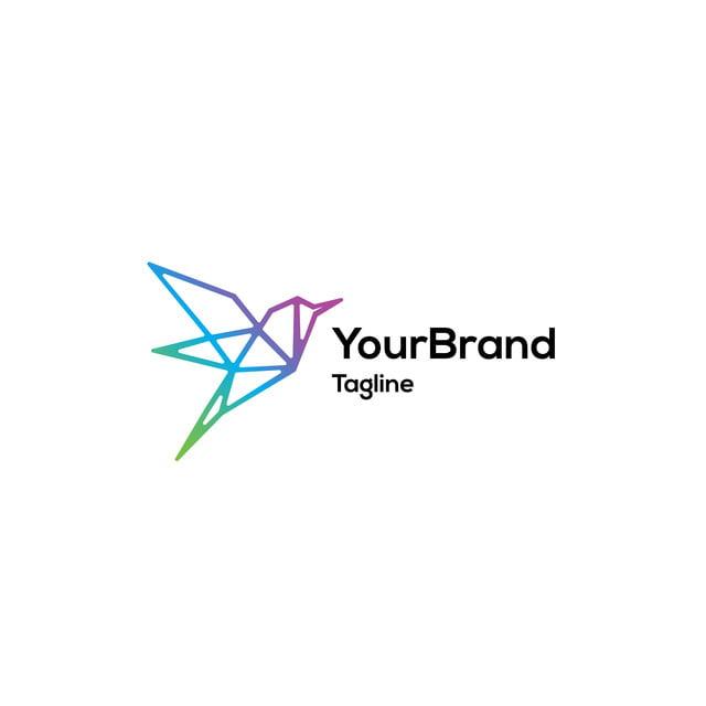 Modern Colorful Mono Line Bird Logo Template Template For