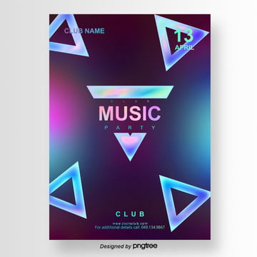 Dark Creative Music Party Poster Template, Club, Template, Poster PNG and PSD