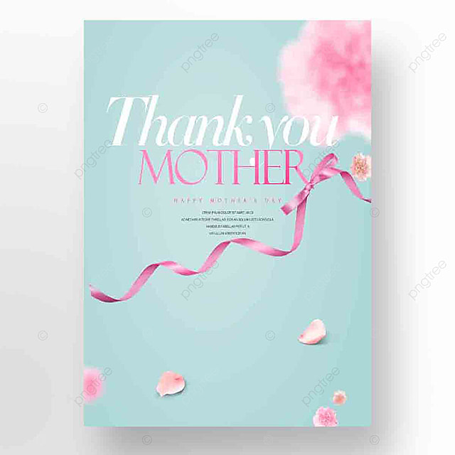 aesthetic fashion simple mothers day promotional card