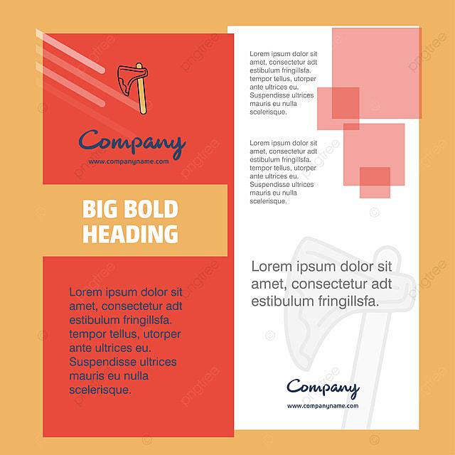 Axe Company Brochure Title Page Design Company Profile