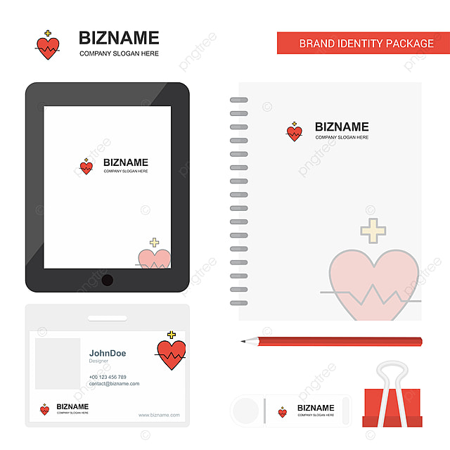 heart rate business logo,tab app,diary pvc employee card and