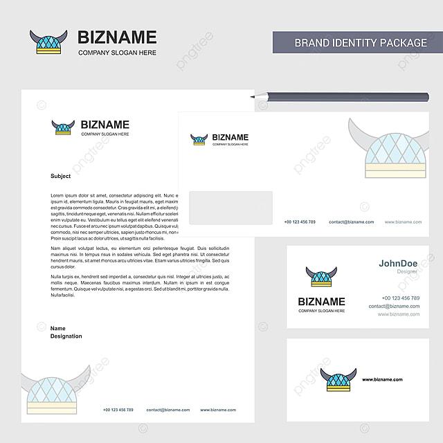 Der Umschlag Und Visitenkarte Design Fünf Helm Geschäfte