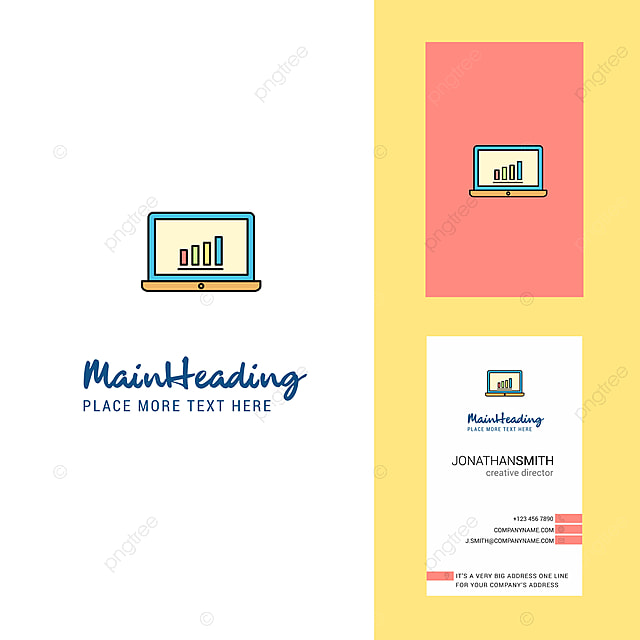 Laptop Kreativen Logo Und Visitenkarte Vertikale Design