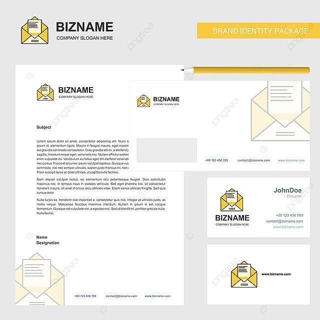 Sampul Surat Dan Mengunjungi Kad Bentuk V Surat Bisnis Surat