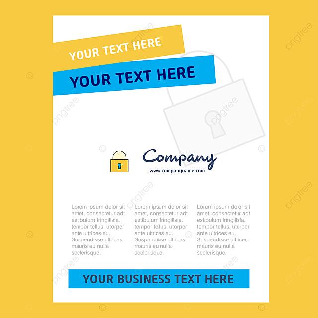 Locked Title Page Design For Company Profile Annual Report