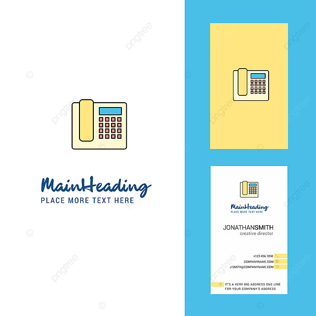 Telefon Kreativ Logo Und Visitenkarte Vertikale Bauweise