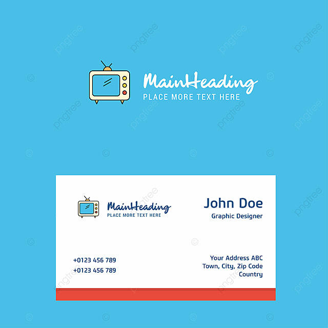 Television Logo Design With Business Card Template Elegant