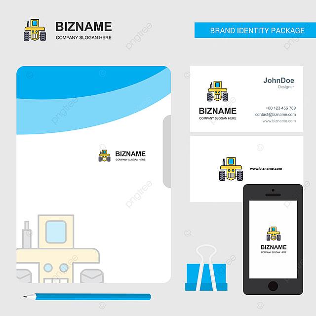 Datei Für Visitenkarten Und Mobile App Traktor Business Logo