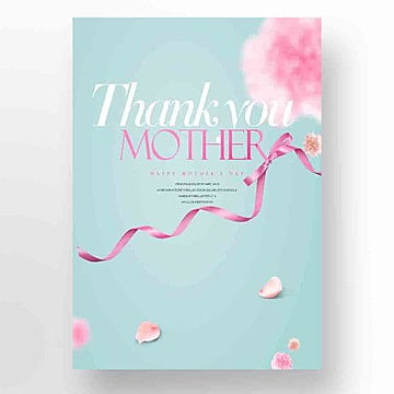 Aesthetic Fashion Simple Mothers Day Promotional Card, Ribbon, Aestheticism, Propaganda PNG and PSD