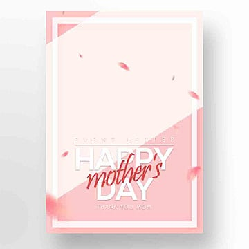 Fresh and Beautiful Mothers Day Happy Publicity Card Template