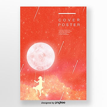 Simple Coral Star Creative Illustration Cover Poster Design living coral,coral, Cartoon, Earth, Girl PNG and PSD