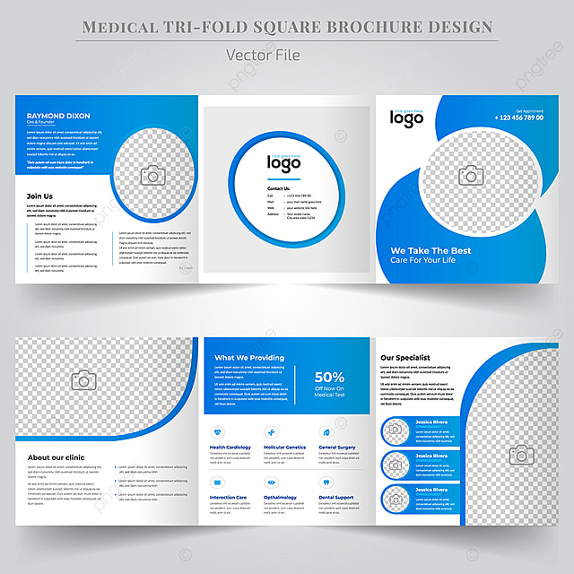 Brochure Design Template For Medical Care Template for Free