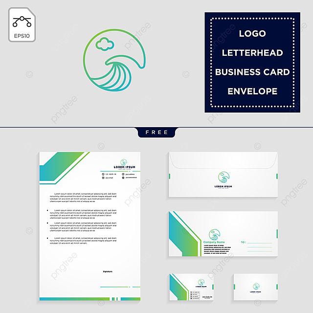 Visitenkarte Umschlag Ferien Logo Vorlage Und Freie