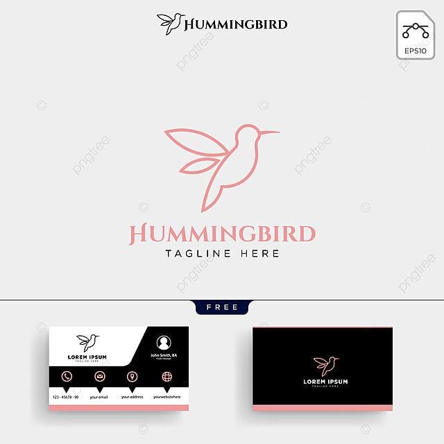 Kolibri Schönheit Logo Template Und Visitenkarte Vorlage Zum