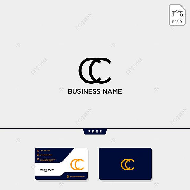 Erste Cc Kreative Logo Template Und Visitenkarten Sind