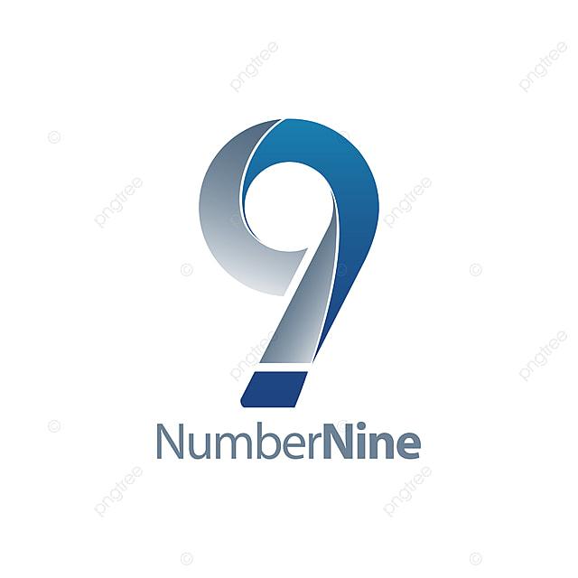 modern number nine 9 logo concept design symbol graphic Template for