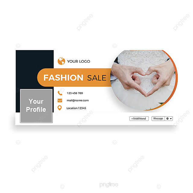 Orange Skirt Fashion Facebook Homepage Business Style Background Template