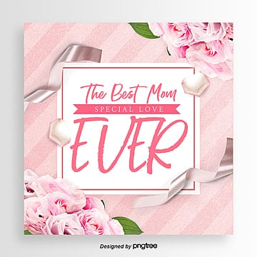 best mothers day romantic and aesthetic festival card Template
