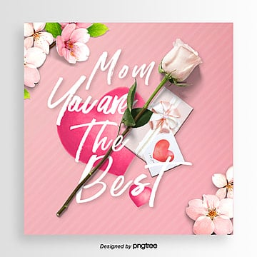 Best Mothers Day Simple Style Festival Cards, Card, Aestheticism, Propaganda PNG and PSD