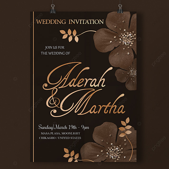 Modern Classy Wedding Invitation Template For Free Download