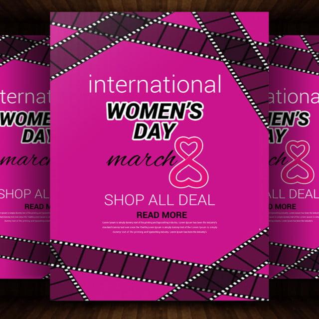 Bonne Journée Internationale De La Femme Le 8 Mars Modèle De