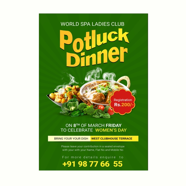 Potluck Dinner Flyer Template For Free Download On Pngtree