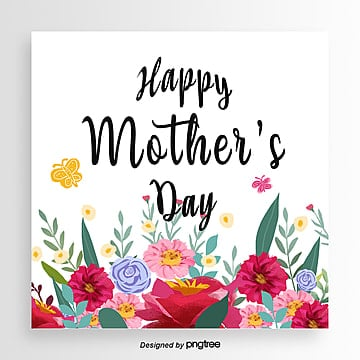 mothers day card of butterfly dance in the flourishing style of hand painting Template