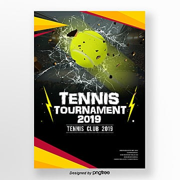 personality fashion simple tennis sports poster Template