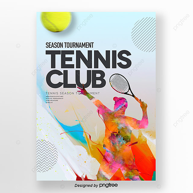 Individual Fashion Simple Abstract Tennis Poster Template