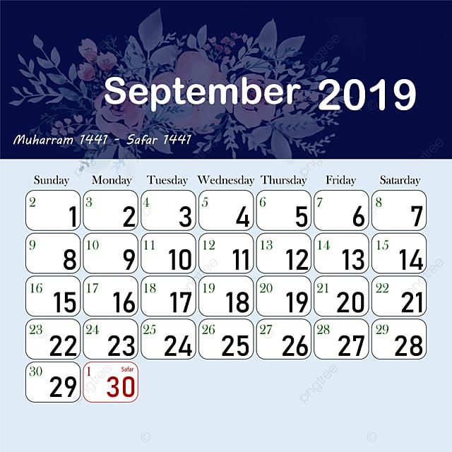 Islamic Hijri calendar September Template for Free Download on Pngtree