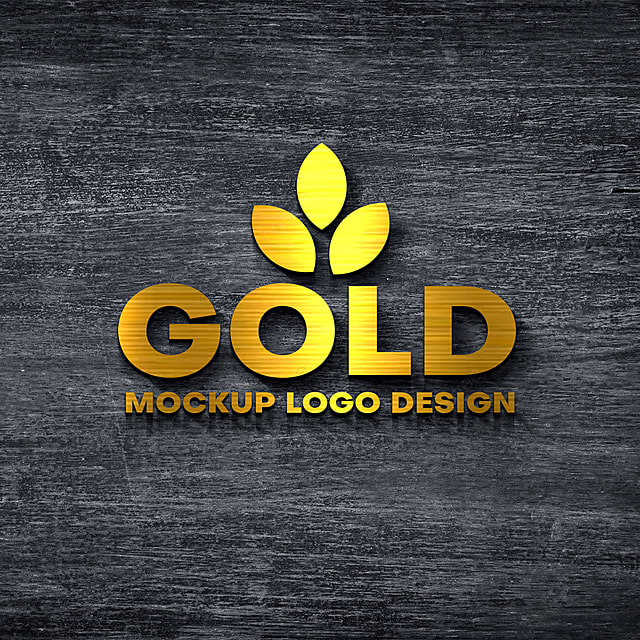 Mockup Logo Gold 3d Template for Free Download on Pngtree