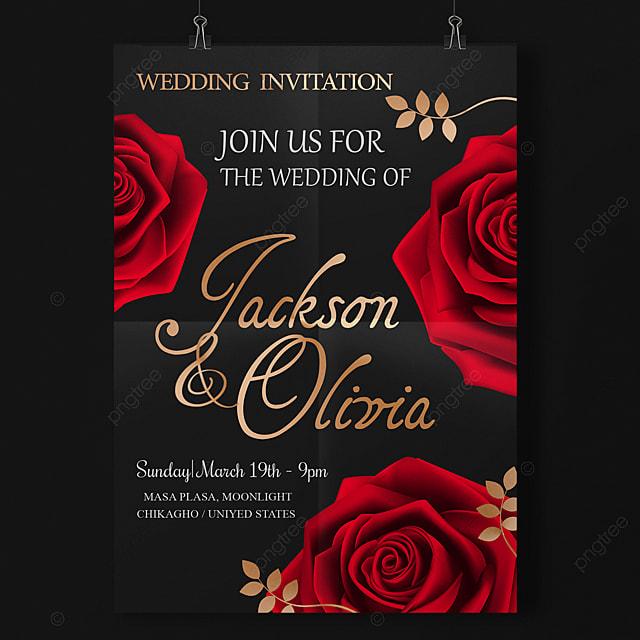 rosas rojas amor tarjetas de boda descarga gratuita de