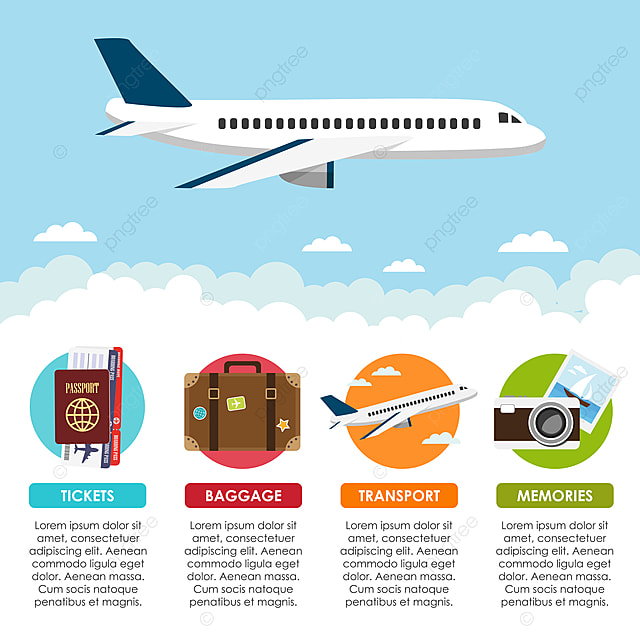 One Of The Best Travel Recommendation For Any Location pngtree-travel-infographic-with-airplane-image_85405