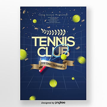 fashionable simple modern tennis poster Template