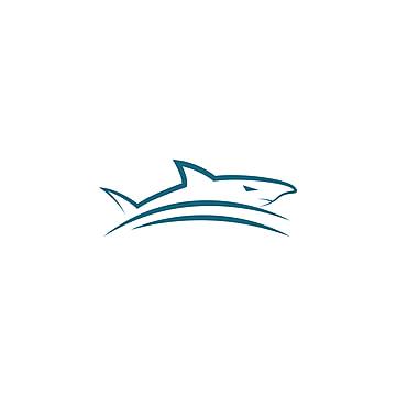 Hunter Blue Shark Icon Template